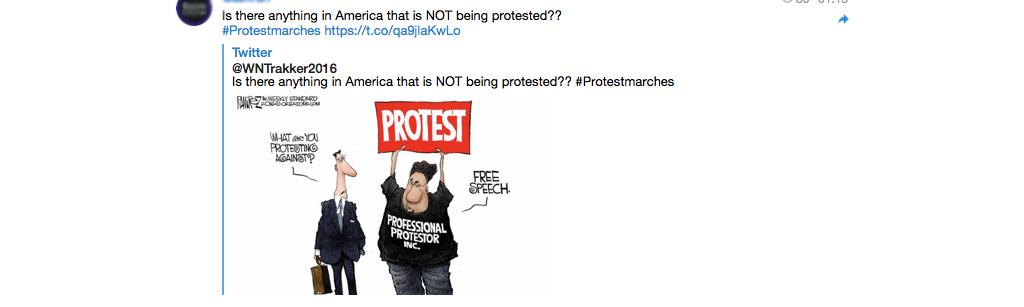 Is er iets in de Verenigde Staten waar niet tegen gedemonstreerd wordt?